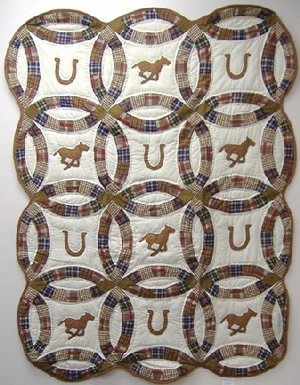 Round Up Handmade Quilt Throw Brand American Hometex