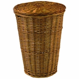 Round Willow Hamper with Matching Lid - Honey in Honey by Redmon