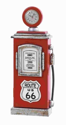 Route 66 Gas Pump Key Holder with Antique Design in Red Brand Woodland