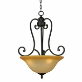 Royal Arches Attractive 3 Light Pendant Lighting in Venetian Bronze by Yosemite Home Decor