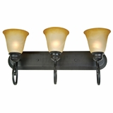 Royal Arches Collection Attractive 3 Light Vanity Lighting in Venetian Bronze Tuscan by Yosemite Home Decor