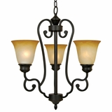 Royal Arches Collection Attractive Customary Styled 3 Light Chandelier in Venetian Bronze by Yosemite Home Decor