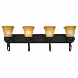 Royal Arches Collection Classy Styled 4 Lights Vanity Lighting in Venetian Bronze Frame by Yosemite Home Decor
