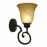 Royal Arches Collection Classy Stylized 1 Light Wall sconce in Venetian Bronze by Yosemite Home Decor