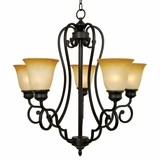 Royal Arches Collection Elegant 5 Lights Chandelier with shade in Venetian Bronze by Yosemite Home Decor