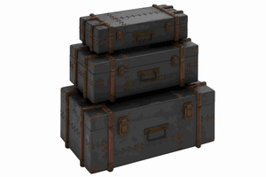 Royal Dark Belgium Trunk Set Brand Benzara