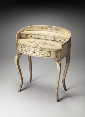 Royal Elysee Guilded Cream Ladies Writing Desk by Butler Specialty