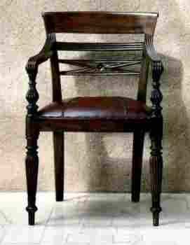 Royal Pepe Chair in Mahogany Wood Construction with Padded Seat Brand Woodland