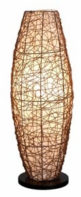 Royal Touch Designer Natural Rattan Wood Floor Lamp with Shade Brand Woodland