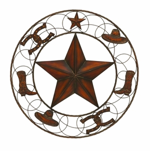 Rugged and Stylish Metal Wall D�cor with Distinctive Carvings Brand Woodland