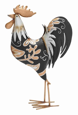 Ruler African Styled Artistic Metal Rooster Brand Benzara
