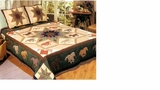 Running Horses Quilt King Size Bedding 105X95 Brand American Hometex