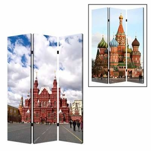 Russia 3 Panel Screen Designed with Intricate Detailing Brand Screen Gem