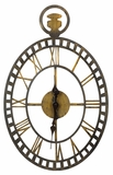 Rustic Brown and Gold Finish Fantastic Malibu Clock by Cooper Classics