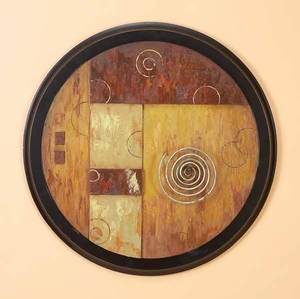 Rustic Wood Wall Plaque in Brown Finish with Unique Design Brand Woodland