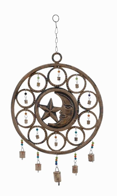 Rustproof Metal Celestial Wind Chime with Circular Design Brand Woodland