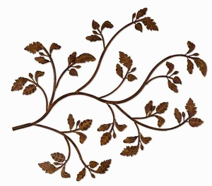 Rusty Branch Wall Art With Hand Forged and Embossed Metal Brand Uttermost