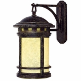 Sahara Collection Classy Stylized 1 Light Exterior Light Wall Mount in Desert Night by Yosemite Home Decor