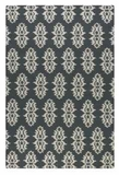 Saint George Blue Grey 5' Woven Wool Rug with Off White Details Brand Uttermost