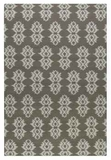 Saint George Mushroom Brown 9' Woven Rug with Off White Details Brand Uttermost