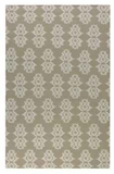 Saint George Natural 5' Woven Wool Rug with Off White Details Brand Uttermost