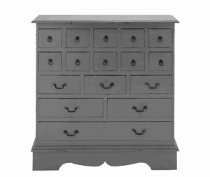Sainte Sixteen Drawers Cabinet in Mahogany Construction Brand Woodland
