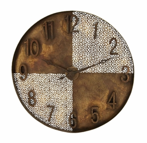 Salt And Pepper Wall Clock With Artistic Light And Dark Quarters Brand Woodland