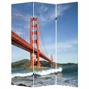 San Francisco Screen, 3 Panel Canvas, 48 Inch L X 72 Inch H Brand Screen Gems