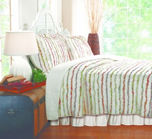 San Marino Collection Bella Ruffle Multi Color Standard Sham by Greenland Home Fashions