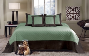 San Marino Collection Brentwood BluSrf/Espresso Color Standard Sham by Greenland Home Fashions