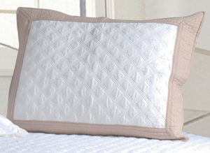 San Marino Collection Brentwood Ivory/Taupe Color Standard Sham by Greenland Home Fashions