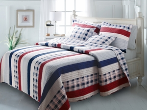 San Marino Collection Nautical Stripe Multi Color King Sham by Greenland Home Fashions