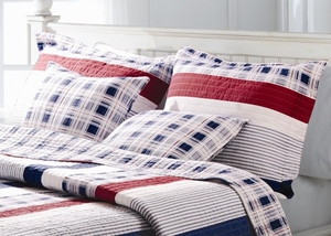 San Marino Collection Nautical Stripe Multi Color Standard Sham by Greenland Home Fashions