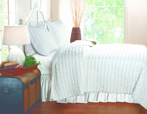 San Marino Collection Ruffled White Color Standard Sham by Greenland Home Fashions