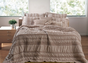 San Marino Collection Tiana Taupe Color Standard Sham by Greenland Home Fashions