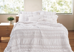 San Marino Collection Tiana White Color King Sham by Greenland Home Fashions