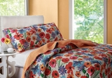 San Marino Crimson Crush Queen Quilt Set