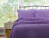 San Marino Ruffled Quilt Set in Lavender