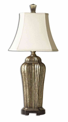 Sanchiel Tall Silver Lamp with Intricate Detailing Brand Uttermost