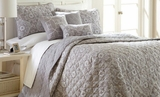 Selma Reversible Queen Size Grey Quilt Set of Six Pieces