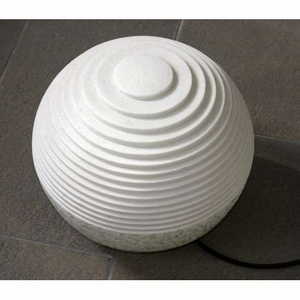 Sandstone Polished Round Ball with Outdoor Light in Line Pattern Brand Screen Gem