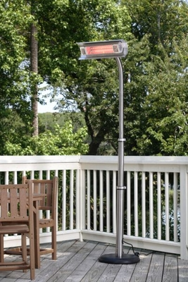 Sanremo Infrared Patio Heater, Pole Mounted And Compact Size Unit by Well Travel Living