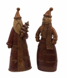 Santa and Snowman Set of 2 Holiday Decor