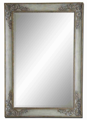 Santerno Mirror Finished in Golden Ivory Burnished Gray Brand Uttermost