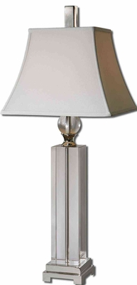 Sapinero Crystal Table Lamp with Nickel Metal Details Brand Uttermost