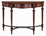 Sascha Console Table with English Burl Walnut Finish Brand Uttermost
