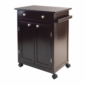 Savannah Kitchen Cart with Elegant and Classy Finesse by Winsome Woods