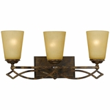 Scarlet Collection Attractive 3 Light Vanity Lighting in Bronze with Gold trim by Yosemite Home Decor