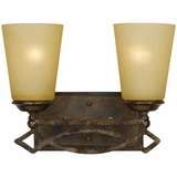 Scarlet Collection Classy 2 Lights Vanity Lighting in Bronze with Gold trim by Yosemite Home Decor