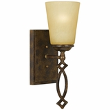 Scarlet Collection Classy Styled 1 Light Bronze Vanity Lighting with Gold trim by Yosemite Home Decor